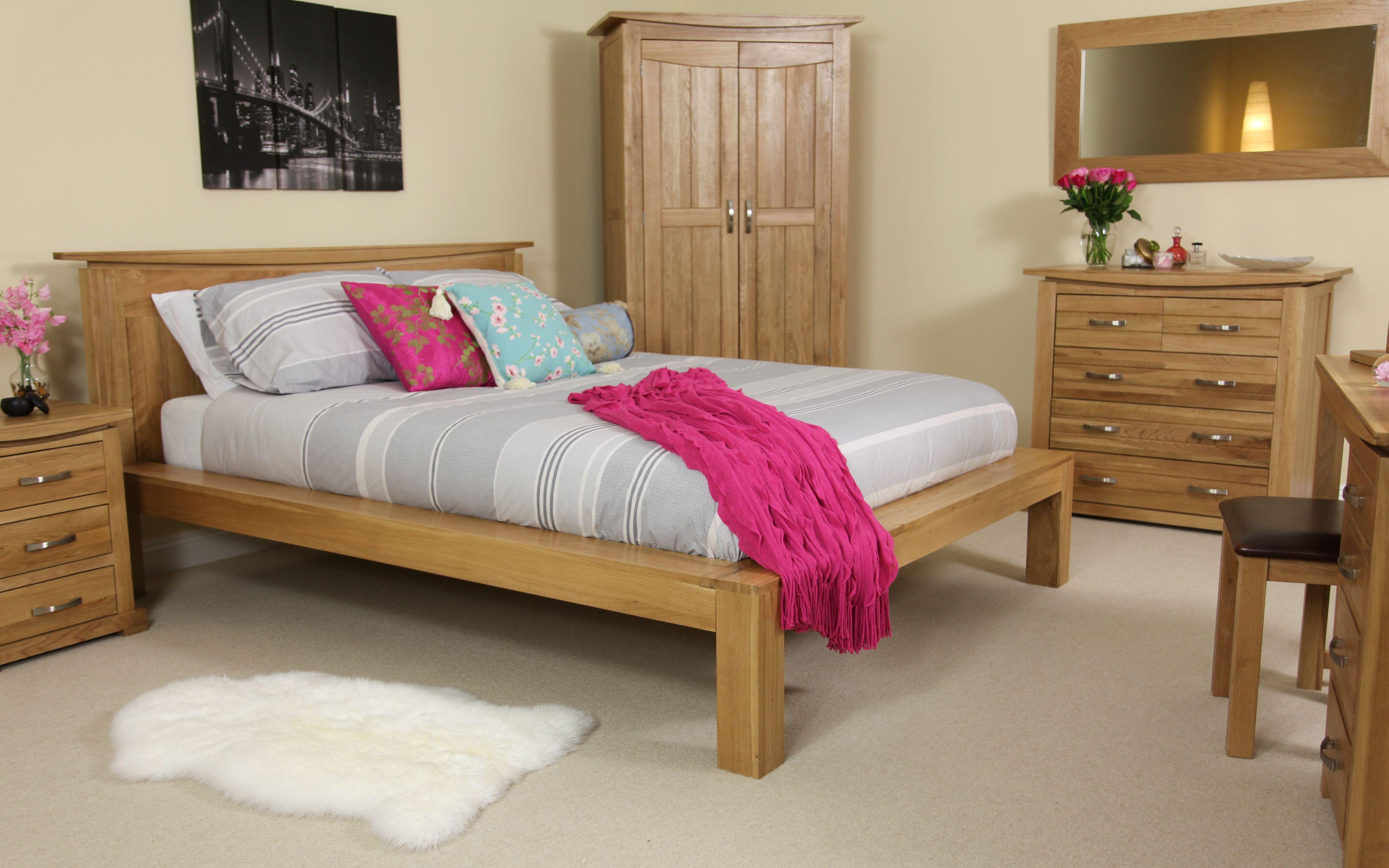 Tokyo Solid Oak Double Bed Www Oakfurnitureland Co Uk Bed Furniture Solid Oak Beds