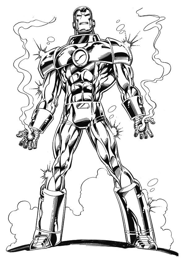 coloring page Iron Man - Iron man For the Kids Pinterest Iron - new print out coloring pages superheroes