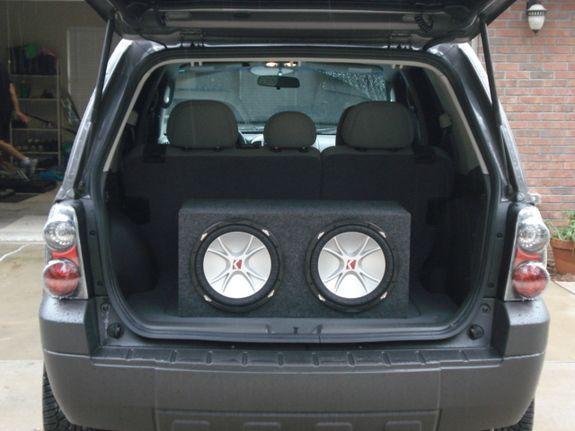 2006 Custom Ford Escape Sitting On 20 Wheels Billet Grill Altezza Tail Lights Fusion Flex Two Kicker 12 Amp