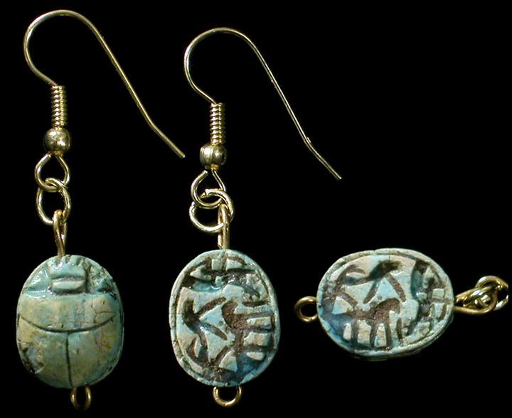 ancient aju earrings egyptian university tube nk