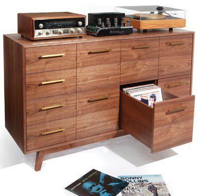 The Record Cabinet By Atocha Design Record Cabinet Vinyl Record Storage Vinyl Storage