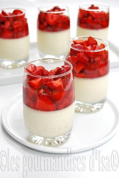 panna cotta l 39 ancienne la vanille salade de fraises. Black Bedroom Furniture Sets. Home Design Ideas