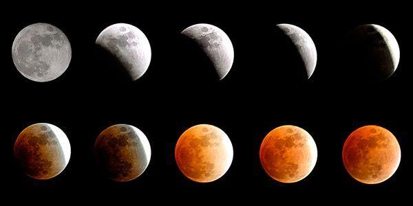 progress of a total lunar eclipse