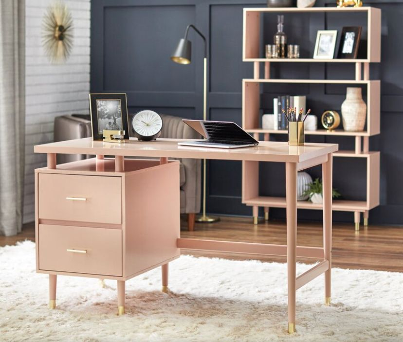 Brayden Studio Garrey Desk Wayfair In 2020 Mid Century Modern Desk Home Office Furniture Furniture