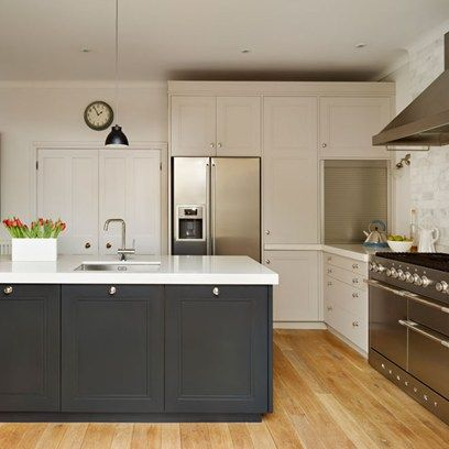 Two tone | Stylish kitchen, Kitchen design and Kitchens