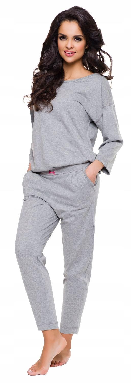 Luzna Pizama Damska Rekaw 7 8 Dlugie Spodnie L Pizama Moda Spodnie