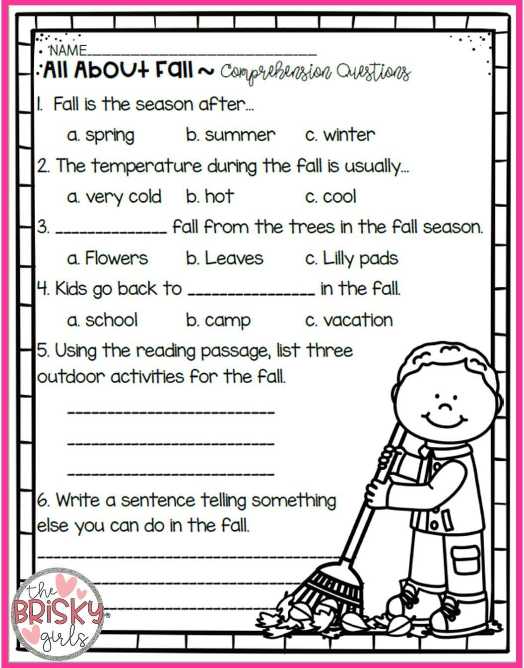 The Four Seasons Reading Passages Take Home Packet