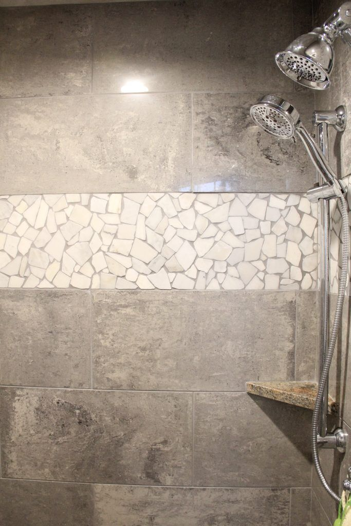 shower tile empier 12x24 polished color general gray rock art rh pinterest com