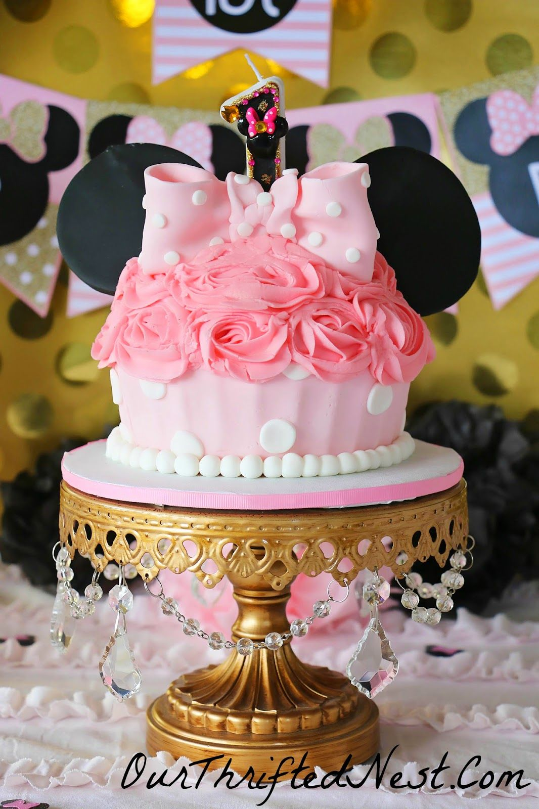 Minnie Mouse Themed Birthday Party Large Minnie Mouse Polka Dot