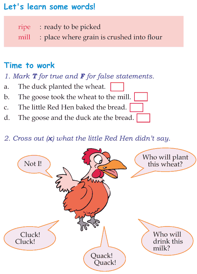 Grade 1 Reading Lesson 12 Fables And Folktales The Little