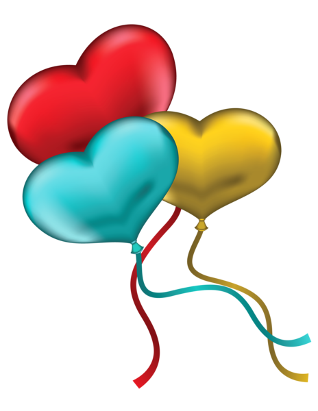 red blue and yellow heart balloons png clipart picture scrapbook rh pinterest com i love lucy birthday clipart happy birthday love clipart
