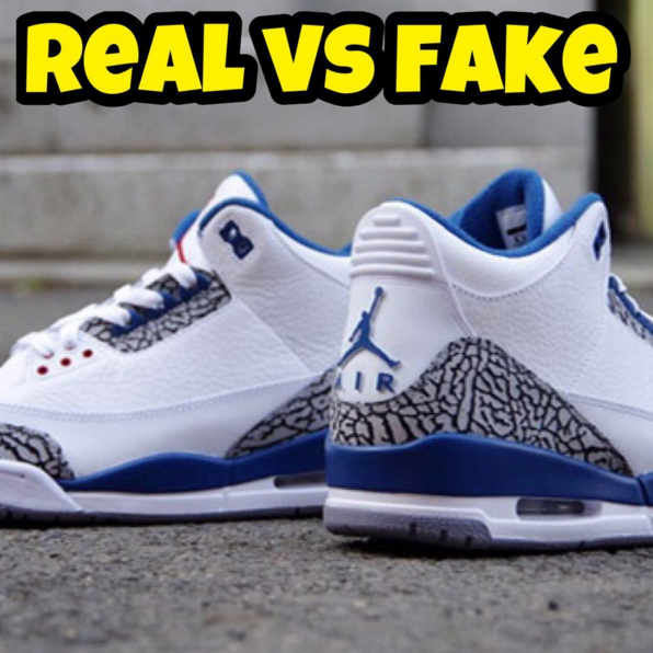 "fc83deffb43 how to Spot Fake Air Jordan 3 ""True Blue"" Real vs Fake 