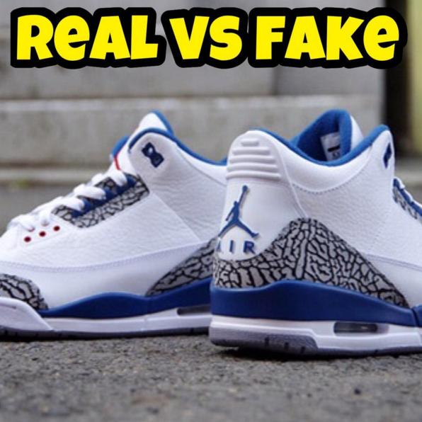 """how to Spot Fake Air Jordan 3 """"True Blue"""" Real vs Fake"""