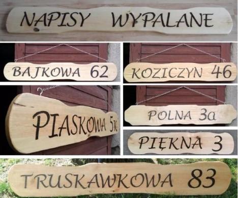 Szyld Numer Wypalanie Napisy Drewniane Nazwy Ulic Novelty Sign Novelty Decor
