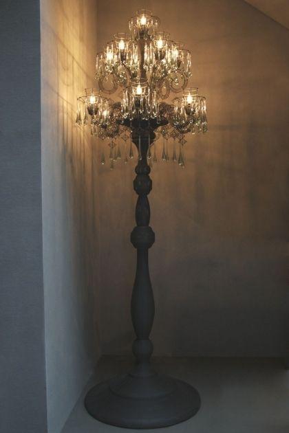 Standing Chandelier Floor Lamp To Decorate Your Modern Room