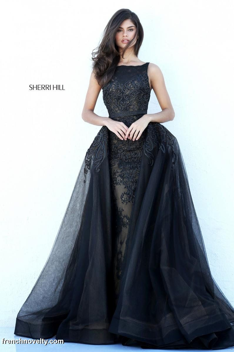 Sherri Hill 50768 Gown with Sheer Overskirt | Gowns... | Pinterest ...