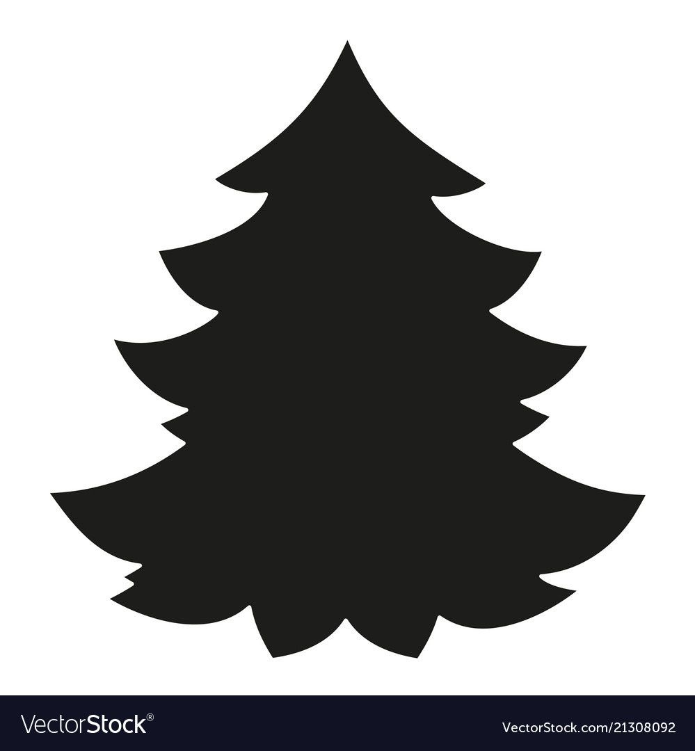 20 Charming Christmas Tree Vector Silhouette Shablony