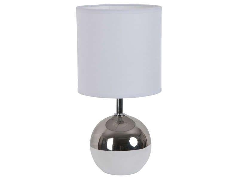 Lampe Céramique Poser Coloris Swirl Boule À Blanc Argent Vente En 5Aj34LqR