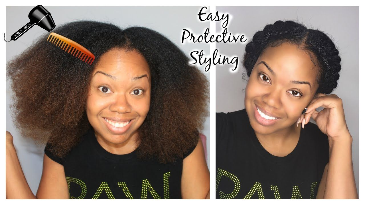 Protective Styles For Natural Hair How To Stretch Natural Hair Easy Protective Style  Natural Hair