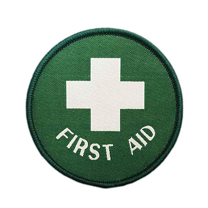 Amazon Com First Aid Circle Woven Iron On Patch Military Medical Medic Green White Cross Badge Arts Crafts Sewing Iron On Patches White Crosses Patches