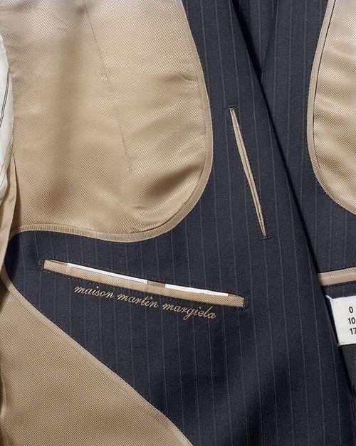 Beige & Pin Stripes