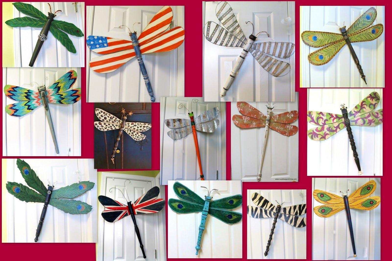 Fan Blade Dragonflies Table Leg Dragonflies Crafts