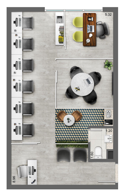 Neorama floor plan office smart lima e silva work - Signe different open office ...