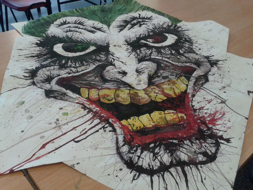 Joker Scribble Drawing : Joker art just scribbles and splatters my
