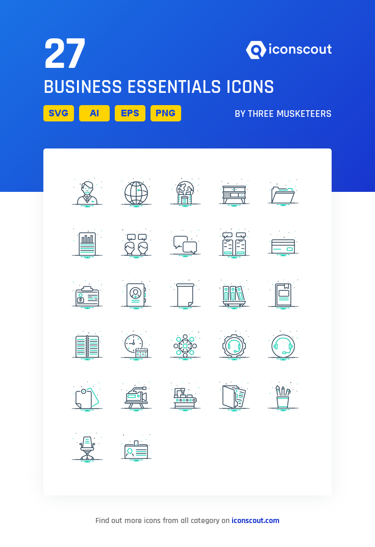 Download Download Business Essentials Icon pack - Available in SVG ...