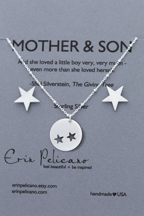 Mothers Day Gift Mom Son Jewelry Mother Son Gift Mother Of The
