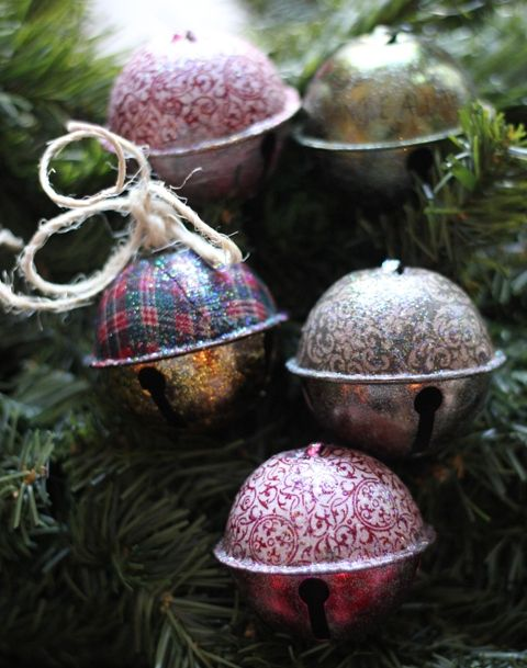 Fabric Jingle Bells with Mod Podge Christmas Crafts Pinterest