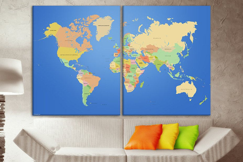 Map guest book world map with pins map with countries world word map map guest book world map with pins map with countries world word map giclee print canvas print on canvas travel map canvas printed on canvas gumiabroncs Images