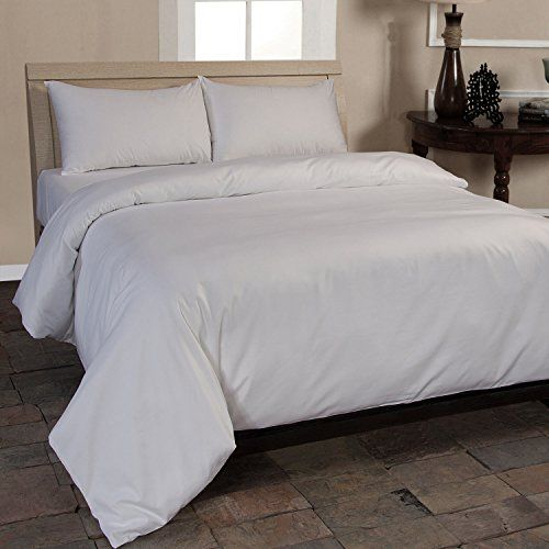 Homescapes Organic 400 Thread Count White Duvet Cover Set 240 X