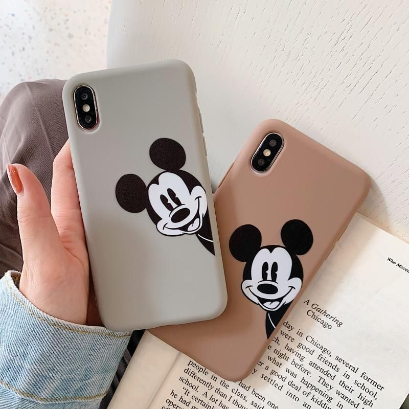 Soft TPU Cute Case Disney Mickey Mouse Case For iPhone X XR XS Max 6 6s Plus 7 8 Plus
