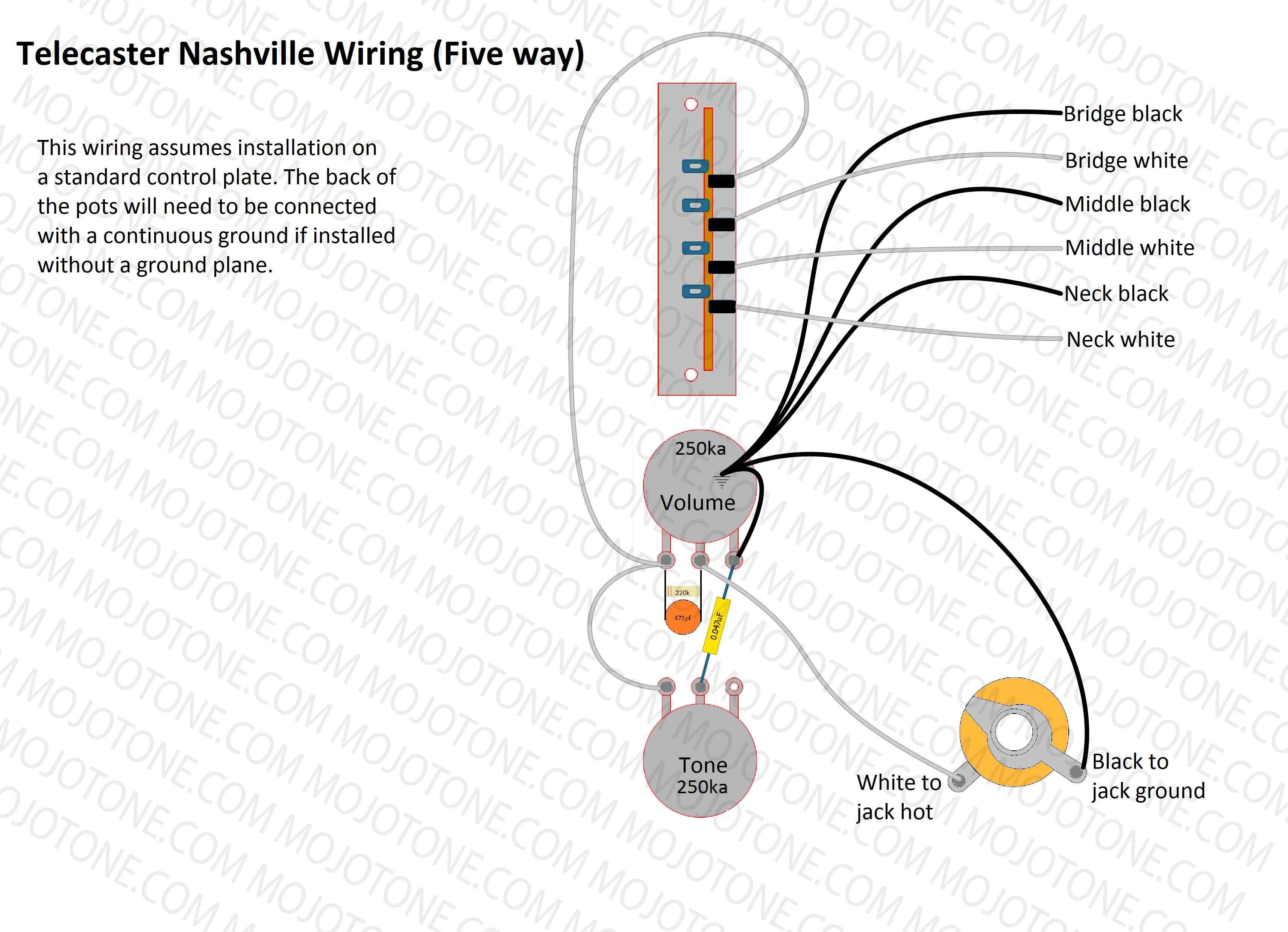 Telecaster Nashville Wiring Diagram | Telecasters in 2019