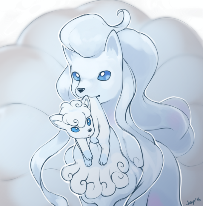 Alolan Vulpix Ninetails By Artricahearts