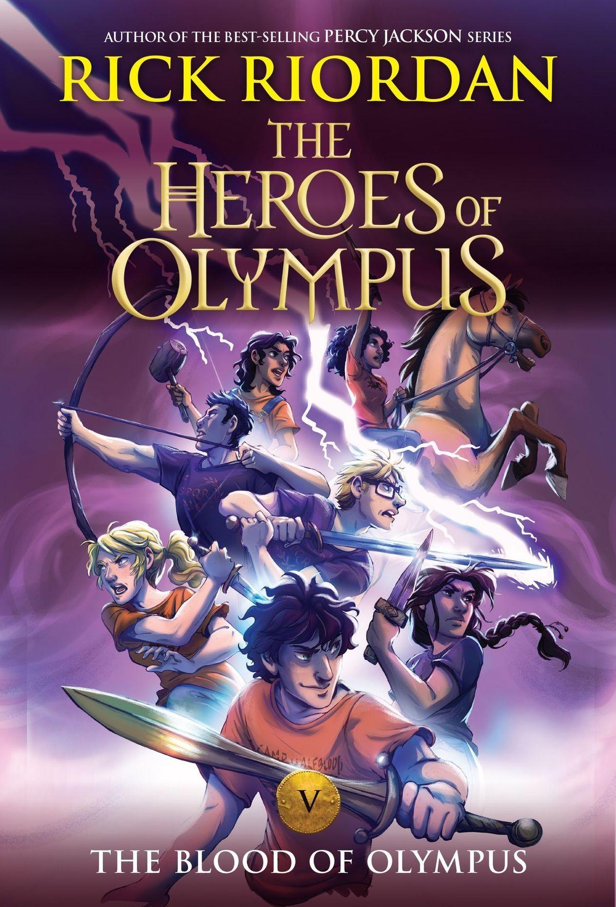Heroes of olympus series by rick riordan receives