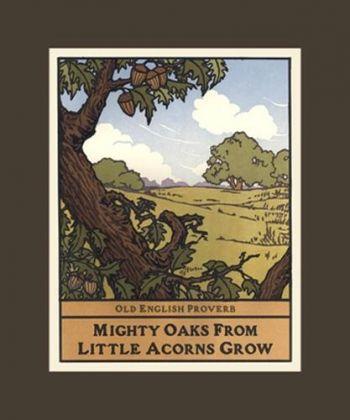 The Wisdom of Trees Oak Matted Block Print