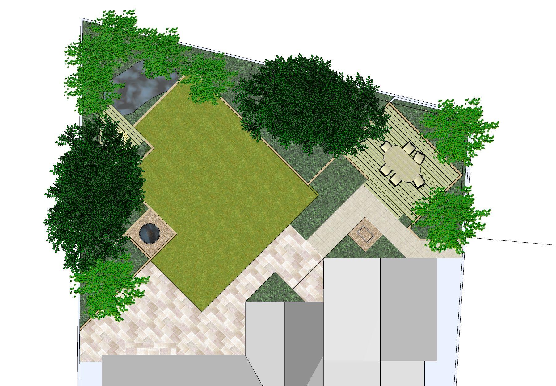 google sketchup 3d landscape design software
