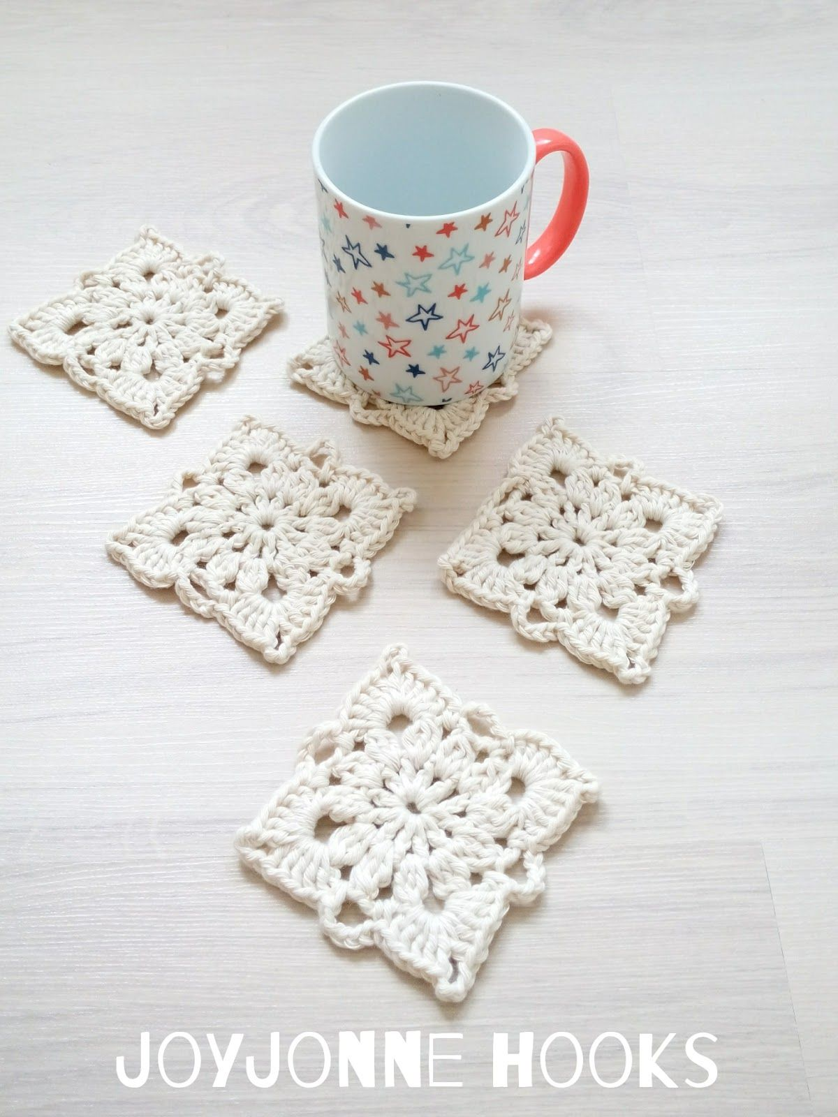 Joyjonne Hooks Square Coasters Pattern Available Onderzetter