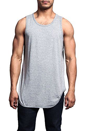 ff8fe53f067 Victorious Solid Color Long Length Curved Hem Tank Top TT... https ...