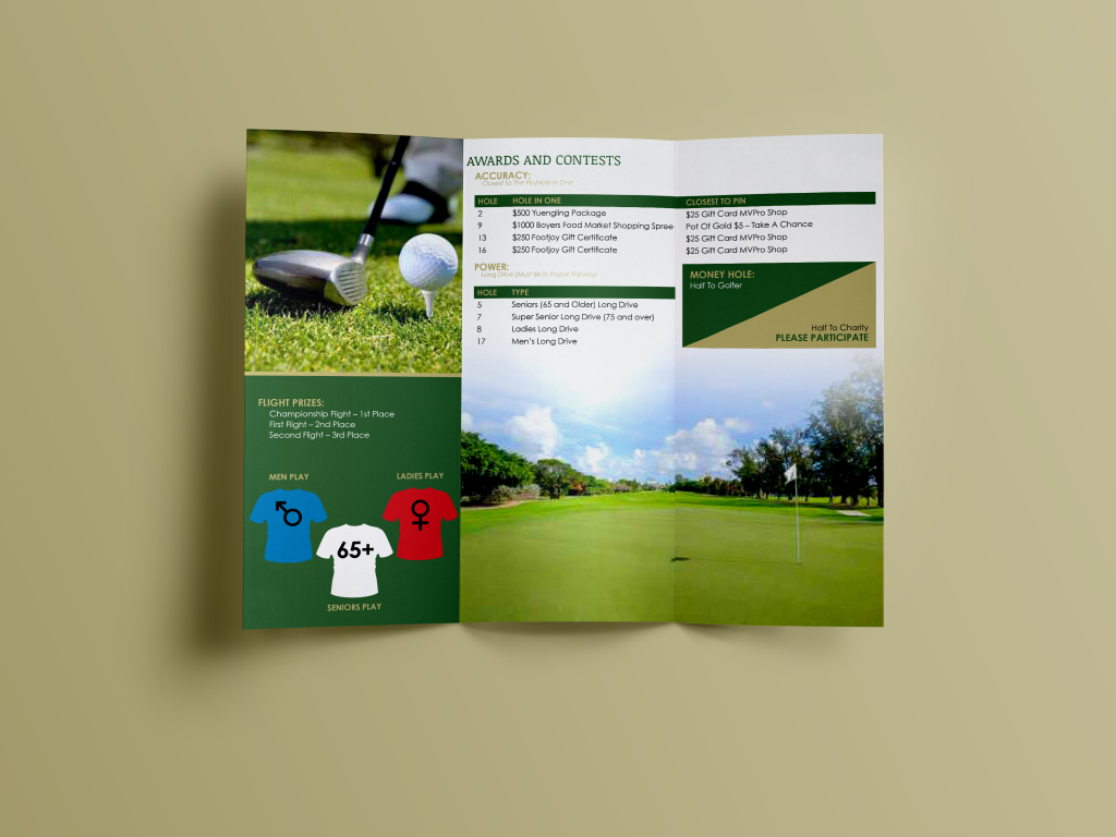Credit Union Charity Golf Tournament Program Inside  My Portfolio