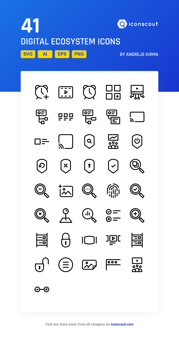 Download Digital Ecosystem Icon Pack Available In Svg Png Eps Ai Icon Fonts Icon Line Icon Digital