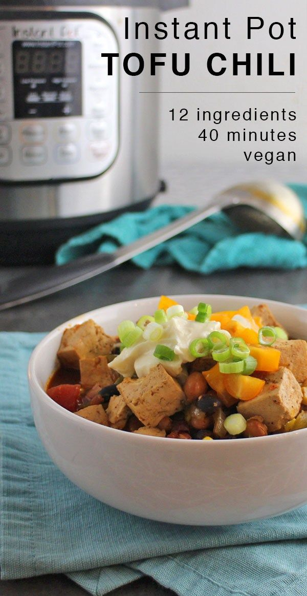 Instant pot chili with canned beans and tofu recipe instant pot instant pot chili with canned beans and tofu delicious vegan recipesvegan food forumfinder Gallery