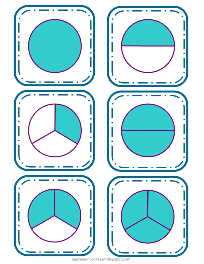 Fractions word symbols picture cards and worksheets fraction pack parts of a whole and a set includes word symbol buycottarizona Images