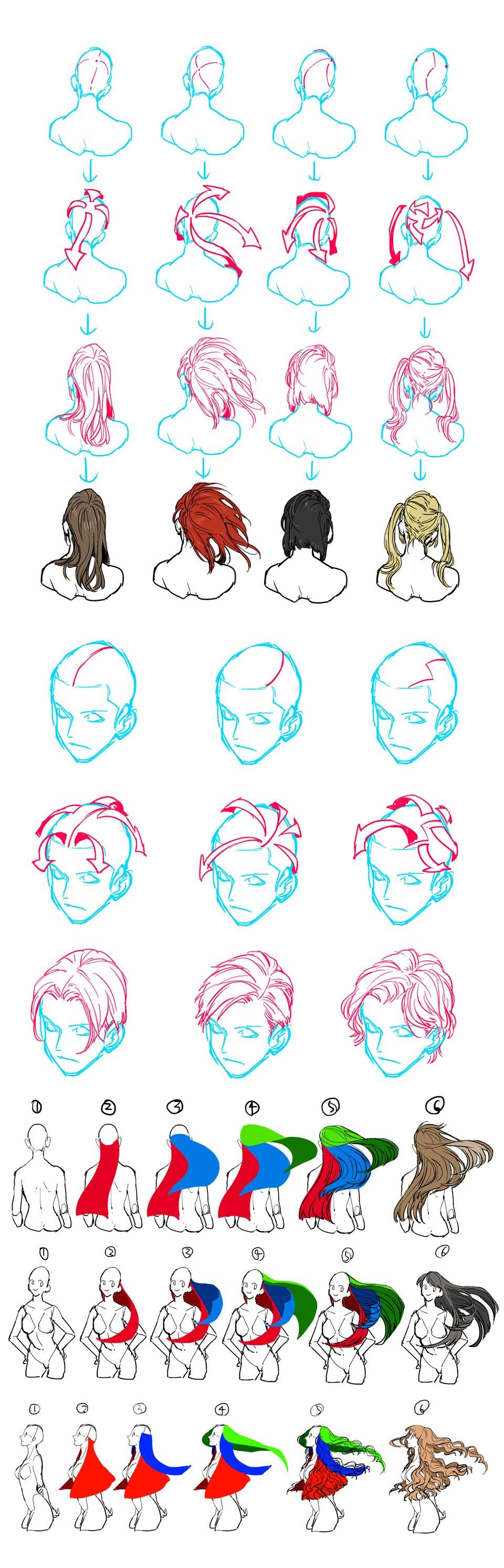 Hair Flow Drawing Reference How To Draw Hair Drawing Tutorial