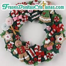 Resultado de imagen para coronas navideñas en fieltro gratis