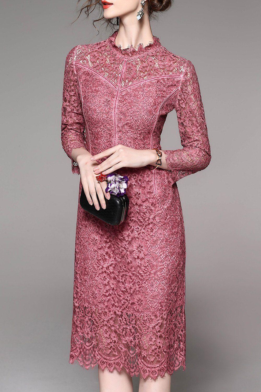dusty rose lace dress | Dresses | Pinterest | Vestiditos, Ropa ...