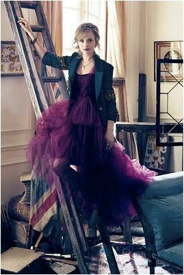 Emma Watson in a princess dress