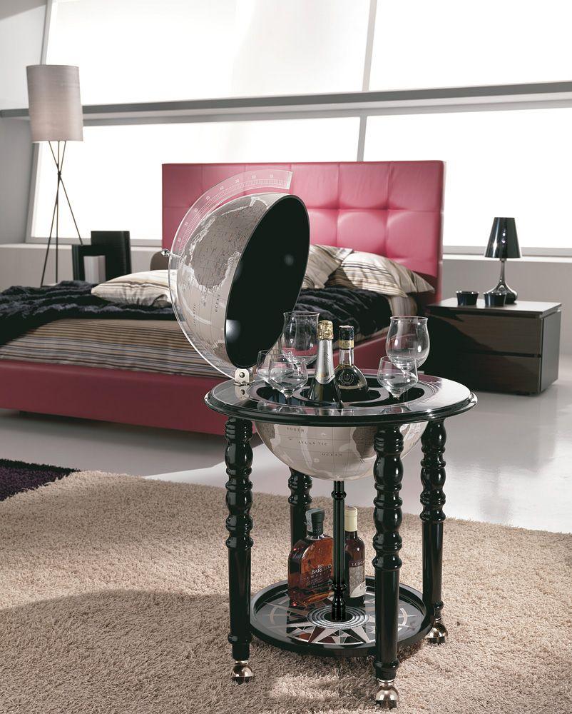 Chic Contemporary Globe Bar Italian 16 Free Shipping Globe Bar Floor Globe Black Globe
